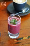 Watermelon and strawberry shot