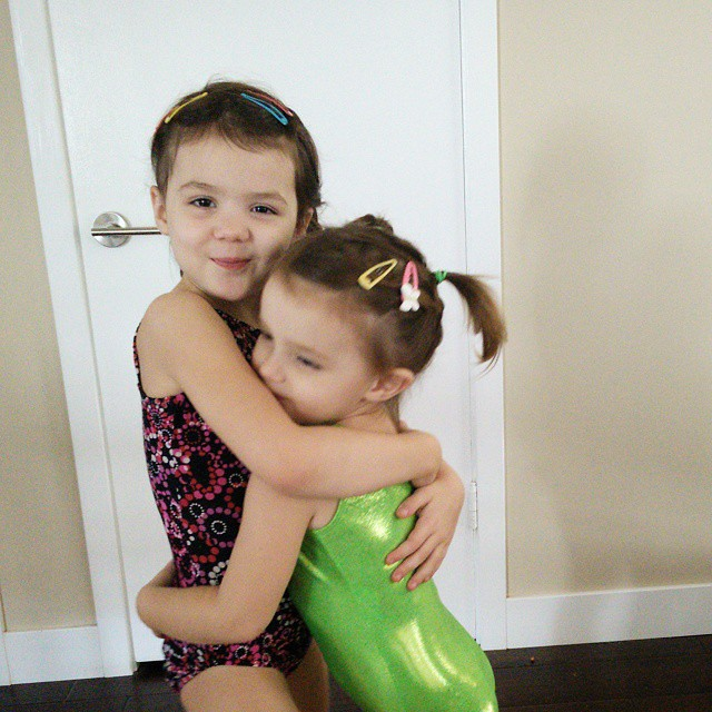 These two are very excited about #gymnastics class! It's what they look forward to all week long!