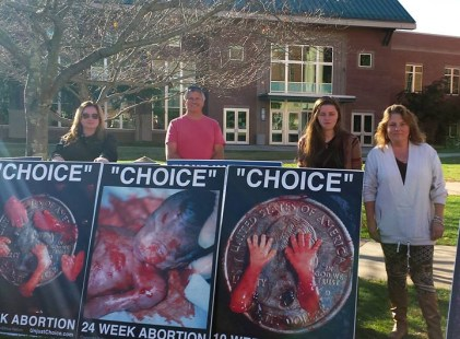 We are thrilled to introduce you to our newest chapter in Cullowhee, North Carolina directed by Melissa Stiwinter! Here she is with volunteers at their first abortion victim photo display on the campus of Western Carolina University. To join the ACP in wo