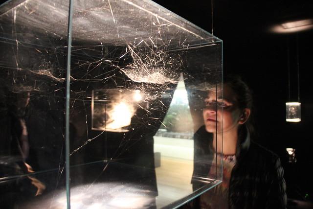 SL at an art installation at the Cultural Center