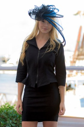 Flirty Jacket and Fitted Panel Skirt.