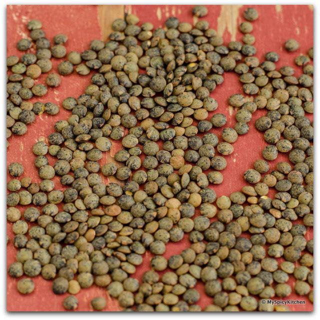 French Green Lentils, Green Lentils, Lentils, Ingredient Shot,