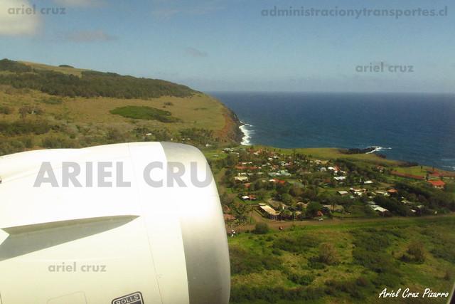 Isla de Pascua desde vuelo LAN842