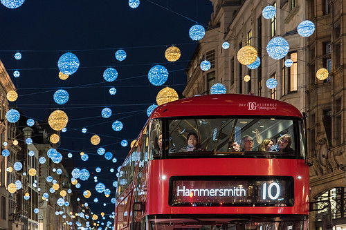 """Festive Commute"" Christmas Lights Regent Street, London, UK"