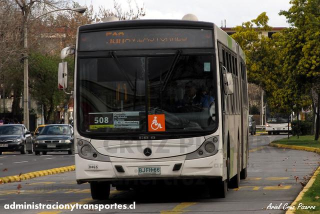 Transantiago - Metbus - Caio Mondego HA / Mercedes Benz (BJFH66)
