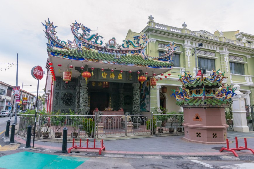 One of the many beautiful temples in George Town, Penang