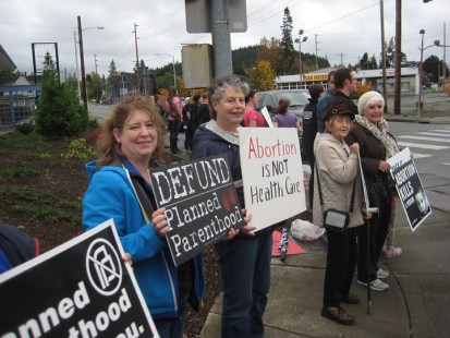 Bellingham, WA - October 10, 2015 (Joining the national protest against Planned Parenthood. www.ProtestPP.com)