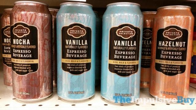 Private Selection Espresso Beverage (Mocha, Vanilla, and Hazelnut)