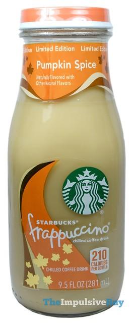 Limited Edition Pumpkin Spice Starbucks Frappuccino Coffee Drink