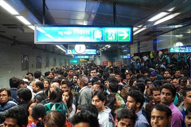 Eine der wichtigsten Metrostationen zur Rush Hour