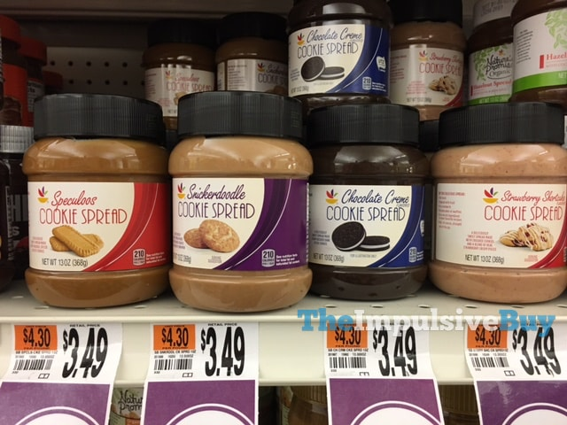 Giant Speculoos, Snickerdoodle, Chocolate Creme, and Strawberry Shortcake Cookie Spreads