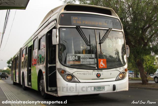 Transantiago - Inversiones Alsacia - Marcopolo Gran Viale / Volvo (BJFD12)
