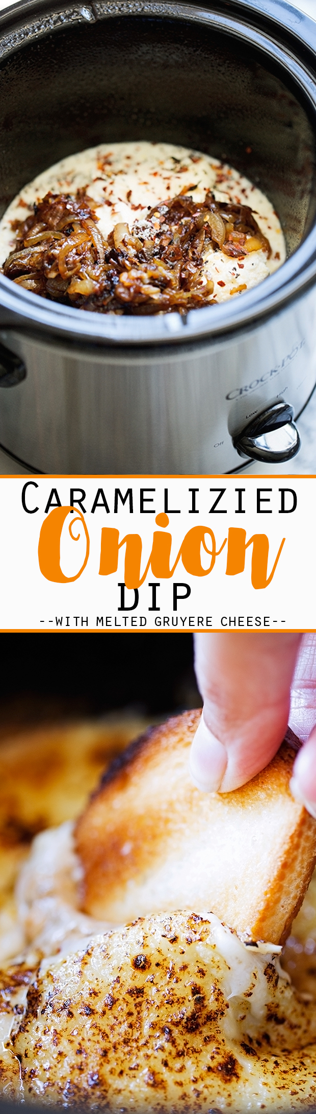 Hot Caramelized Onion Dip {Slow Cooker} - An easy dip to serve to ...