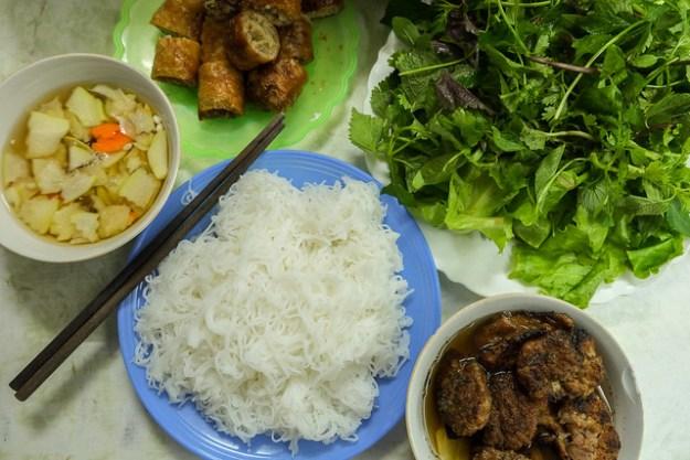 Bun cha. Hanoi