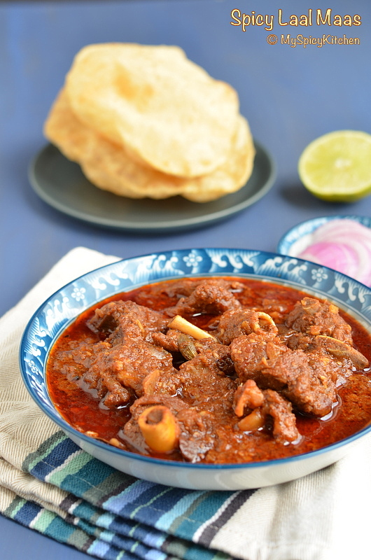 Buffet on Table, Blogging Marathon, Rajasthani Cuisine, Rajasthani Food, Spicy Mutton Curry, Spicy Goat Curry,
