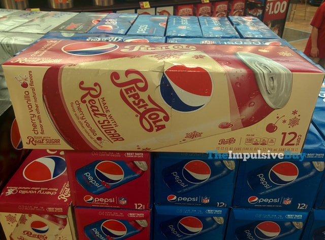 Cherry Vanilla Pepsi Made with Real Sugar