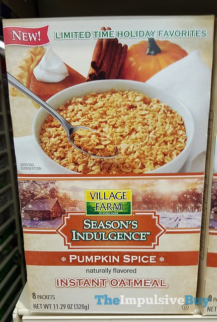 Village Farm Season's Indulgences Pumpkin Spice Instant Oatmeal