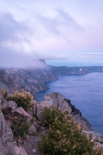 Evening fog. Crater Lake