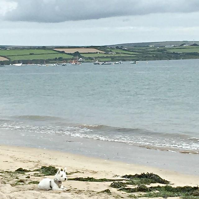 Sylvie on the beach