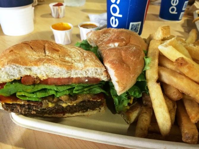 Orbit Cafe - Black Bean Burger. Kennedy Space Center Visitor Complex, Oct. 10, 2015