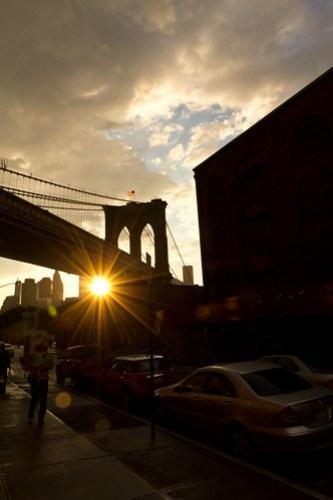 Sunset by the Brooklyn Bridge