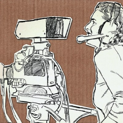 Artwork Female Video Camera Operator