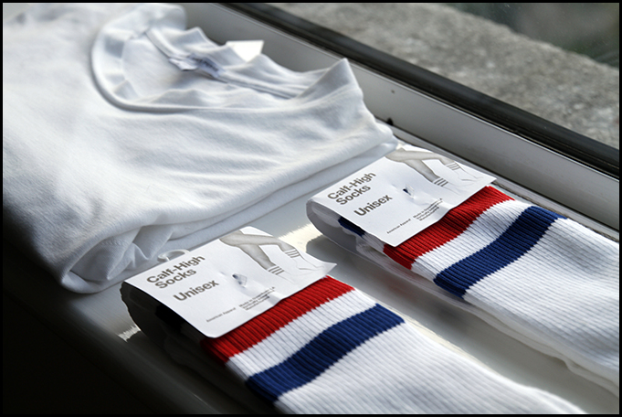 Tuukka13 - White Essentials - The Perfect White T-Shirt by James Perse and Classic Striped Socks by AA - 2
