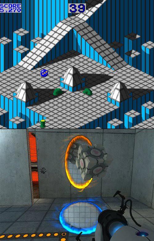 Marble Madness vs Portal