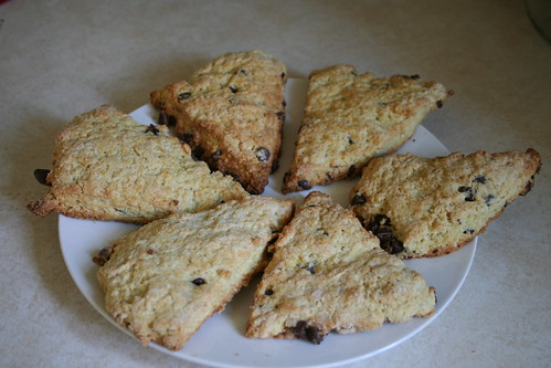 Chocolate baking scones