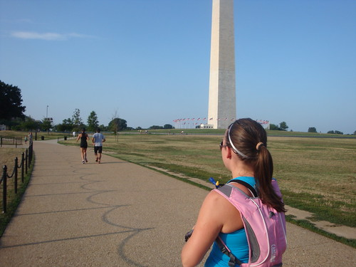 Megan and the monument