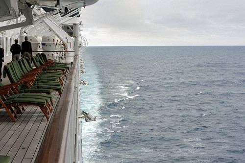 deck and ocean