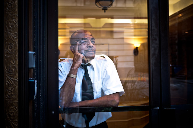 What's on a doorman's mind?