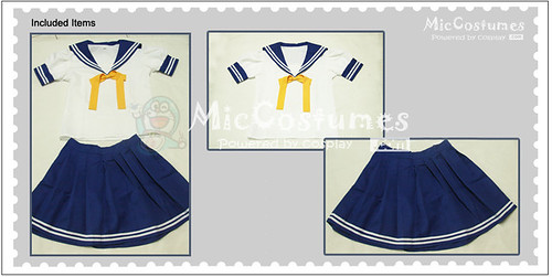 Lucky Star Summer Uniform Cosplay Costume_3