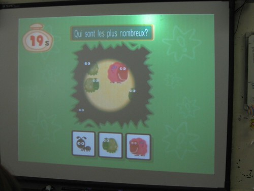 Using a Wii in MFL class on a smartboard
