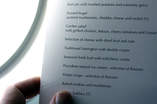 Lamington menu