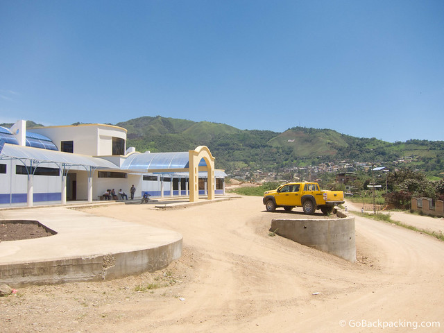 Bus station in Zumba, Ecuador