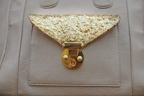 DIY Glitter Details on Purse