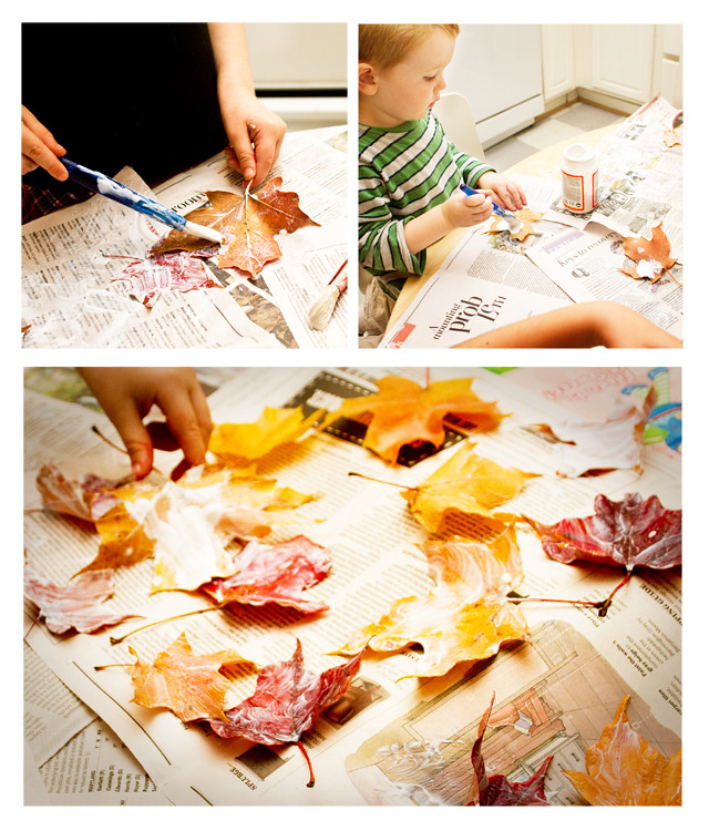 Preserving Fall Leaves - Painting