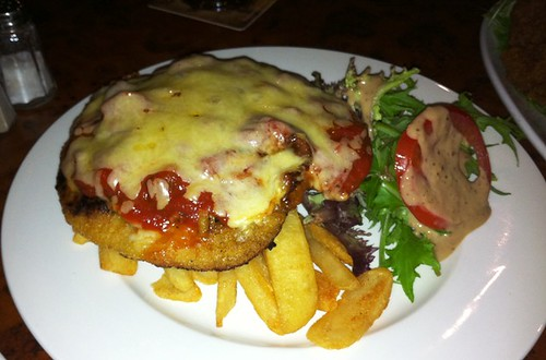 chicken parmigiana at the mighty quinn