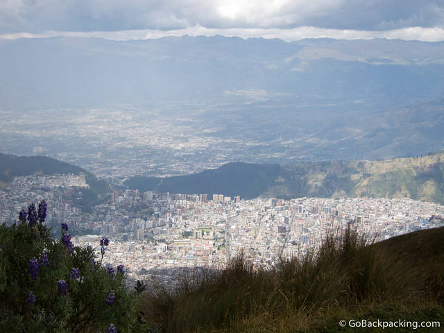 View of Quito from 4,100 meters