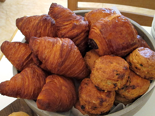croissants and scones