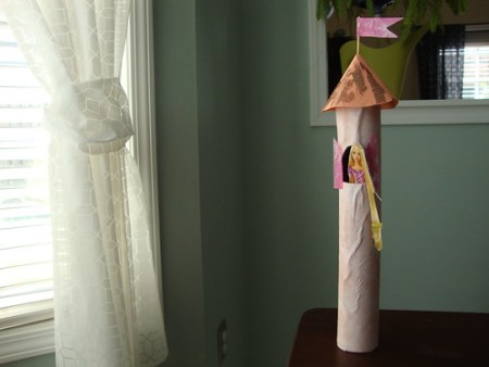 rapunzel's tower kids craft