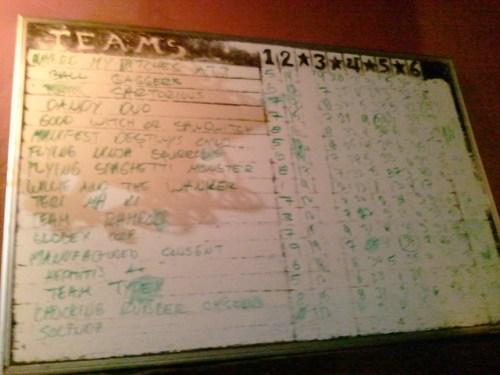 The Albatross pub trivia teams