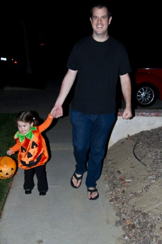 out for candy