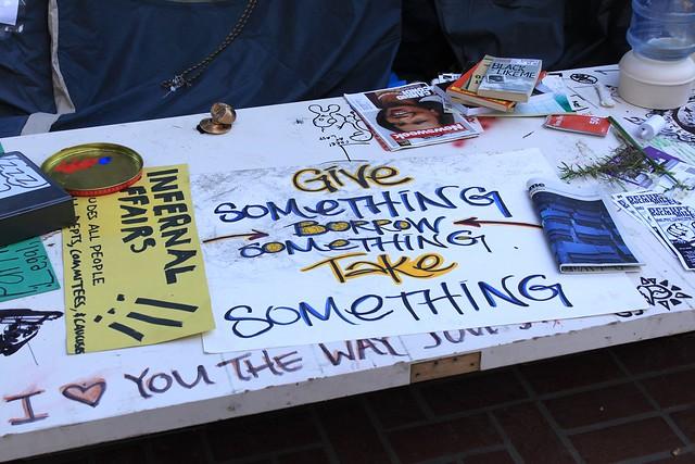 give something, borrow something, take something