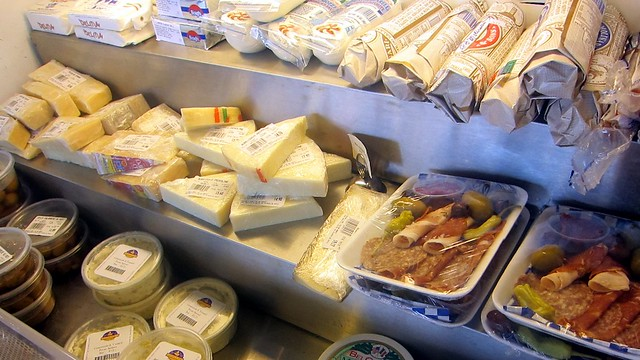cheese case at toscano & sons