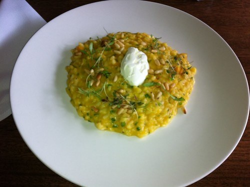 Pumpkin risotto with pine nuts & mascarpone - Clarences