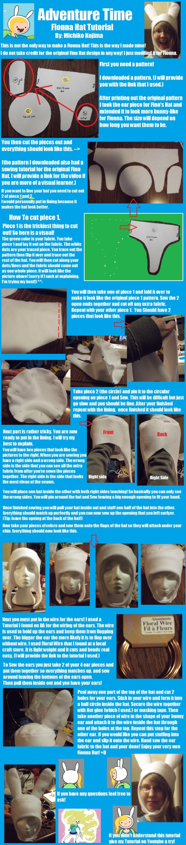 How to Make Fionna Cosplay Hat