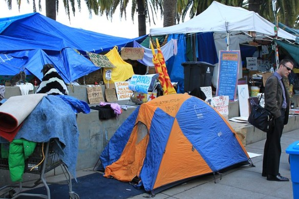 Occupy tents