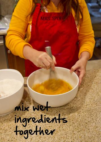 mix the wet ingredients